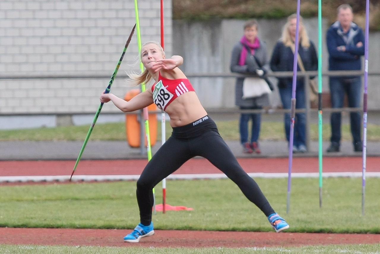 170205 Anna Storm Speerwurf Leverkusen NRW